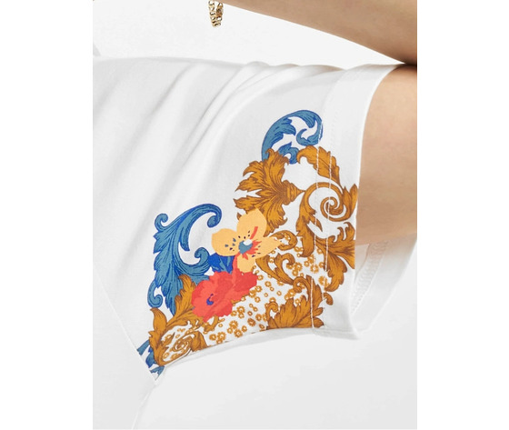 Tshirt adidas bianca con stampa floreale fiori donna spring break art. gn3354 %284%29
