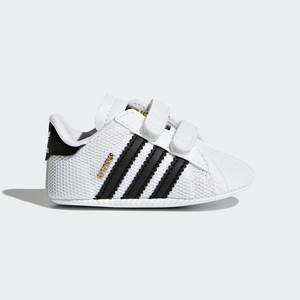 Scarpe Neonati Culla Adidas Superstar Bianche e nere con Strappi Art. S79916