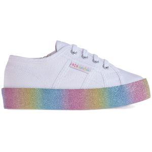 Scarpe Superga 2730 KIDS Glitter PlatForm White- Rainbow Art. S81161W