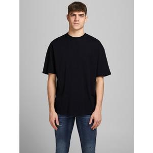 T-shirt Nera Basic Uomo boxy fit in cotone taglio ampio e rilassato Jack&Jones art. 12185628