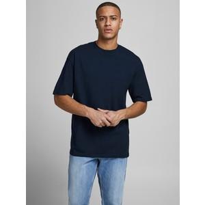 T-shirt Blu Basic Uomo boxy fit in cotone taglio ampio e rilassato Jack&Jones art. 12185628