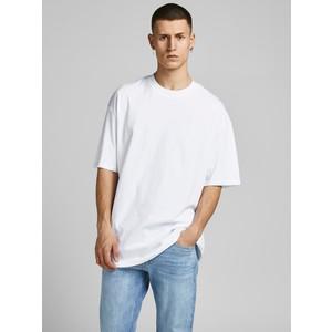 T-shirt Bianca Basic Uomo boxy fit in cotone taglio ampio e rilassato Jack&Jones art. 12185628