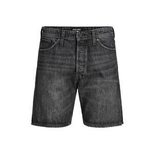 Bermuda in Jeans Nero Uomo Vita Alta Cinque Tasche Jack&Jones Chris Originals shorts 193 art. 12188479