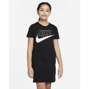 Abito t-shirt Ragazza Nike Sportswear Nero Bianco Art. CU8375 010
