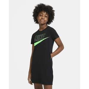 Abito t-shirt Ragazza Nike Sportswear Nero Vapor Green Art. CU8375 011