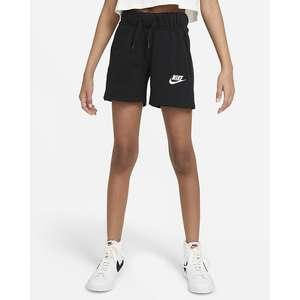 Shorts Nike in French Terry Nero Ragazza Sportswear Club Art. DA1405 010