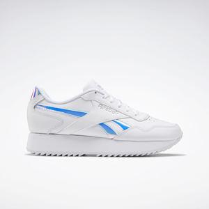 Sneakers Reebok Royal Glide Ripple Double Bianche con dettaglio Iridescente art. G58091