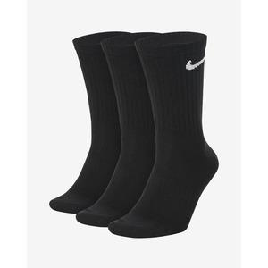 Calze Nike Mid Nere Everyday 3-pack essential Logo Bianco Cotone Spugnato art. SX7676 010