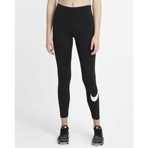 Leggins Nike Nero Vita Media Essential con stampa laterale art. CZ8530 010