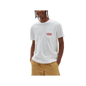 T-shirt Bianca Vans Con taschino Stampa OTW sul retro cotone 100% girogola unisex art. VN0A2YQV3PS