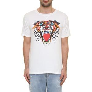 T-shirt Bianco con stampa tigre BL.11 Bianca latte cotone 100% art. 31P21TIGER24