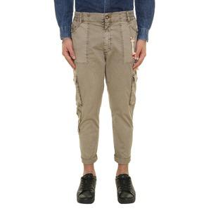 Pantalone con Tasconi fango Uomo Cargo Fango Sabbia Slim Vita media elasticizzata BL.11 Made in Italy art. 02P21BL077