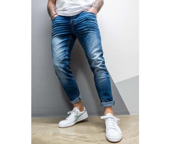Berna jeans sfumato slim fit senza rotture 210001 blu 3 900x1200