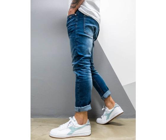 Berna jeans sfumato slim fit senza rotture 210001 blu 2 900x1200