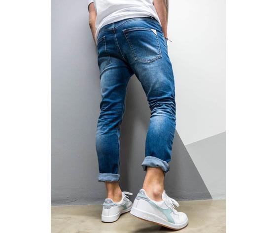 Berna jeans sfumato slim fit senza rotture 210001 blu 4 900x1200