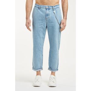 Jeans Uomo Cropped Chiaro con Tasche America Cavallo basso fondo stretto Berna Italia art. 210185