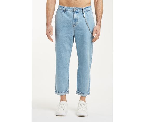 Jeans uomo cropped chiaro con tasche america cavallo basso fondo stretto berna italia art. 210185 %281%29