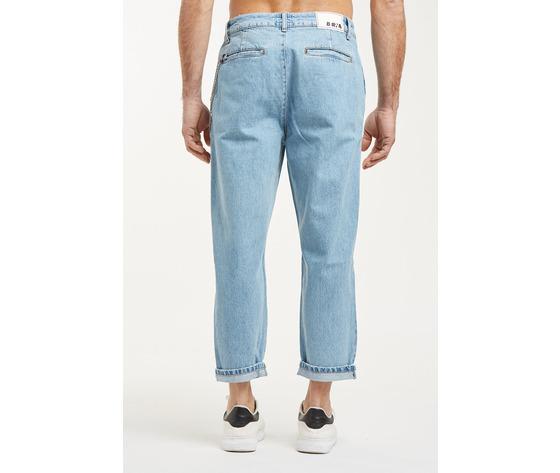 Jeans uomo cropped chiaro con tasche america cavallo basso fondo stretto berna italia art. 210185 %283%29