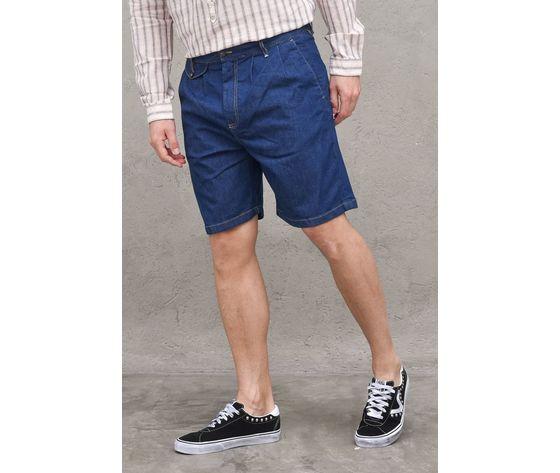Bermuda jeans denim uomo con pinches berna italia art. 210170 %283%29