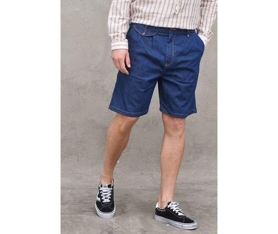 Bermuda jeans denim uomo con pinches berna italia art. 210170 %281%29