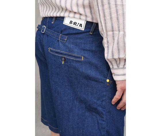 Bermuda jeans denim uomo con pinches berna italia art. 210170 %282%29