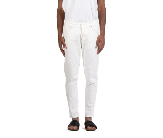 Jeans uomo slim fit  denim bianco in cotone i'mbrian made in italy art. alancl1608 %281%29