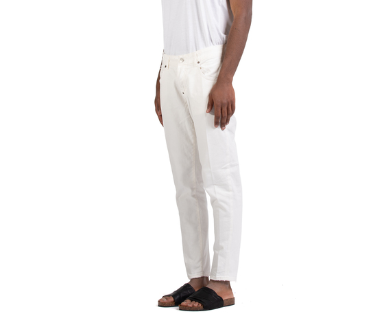 Jeans uomo slim fit  denim bianco in cotone i'mbrian made in italy art. alancl1608 %282%29