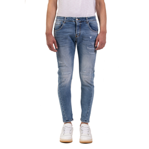 Jeans Uomo Slim Fit  Denim Con Rotture in Cotone I'mBrian Made in Italy art. PAULL1609