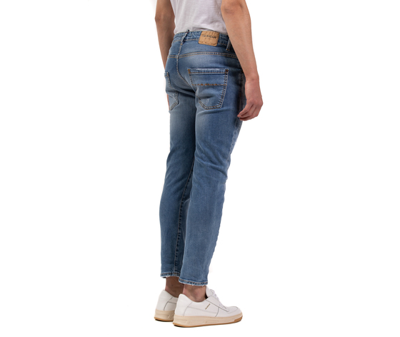 Jeans uomo slim fit  denim con rotture in cotone i'mbrian made in italy art. paull1609 %281%29