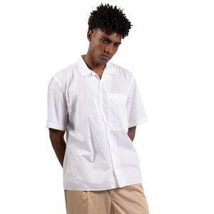 Camicia Bianca Maniche Corte con tasconi Frontali I'mBrian Boxy Fit Cotone Bianco art. CA1739