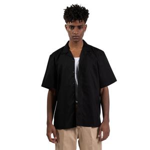Camicia Nera Maniche Corte con tasconi Frontali I'mBrian Boxy Fit Cotone Nero art. CA1739