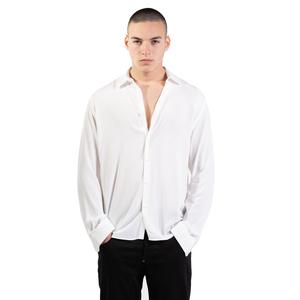 Camicia Bianca in Viscosa Uomo  I'mBrian  100% Viscosa Bianco art. CA1741