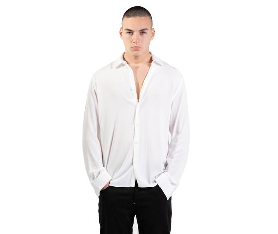 Camicia bianca in viscosa uomo  i'mbrian  100  viscosa bianco art. ca1741 %281%29