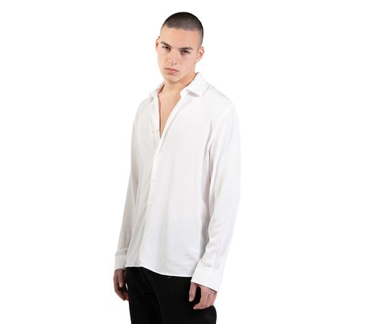 Camicia bianca in viscosa uomo  i'mbrian  100  viscosa bianco art. ca1741 %282%29