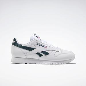 Sneakers Reebok Classic Leather Uomo Bianco e Verde Bosco Art. FY9403