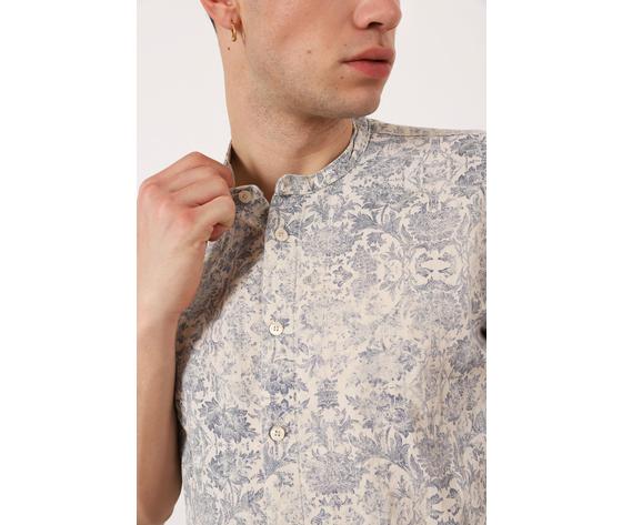 Camicia stampa floreale imperial uomo slavato collo coreana uomo fantasia ecr%c3%b9  blu art. cyx5bco5k3 %283%29