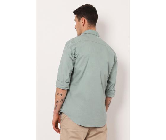La camicia regular %c3%a8 caratterizzata da un colletto classico  maniche lunghe e due taschini dettaglio sul petto. 95  cotone  5  elastan %283%29