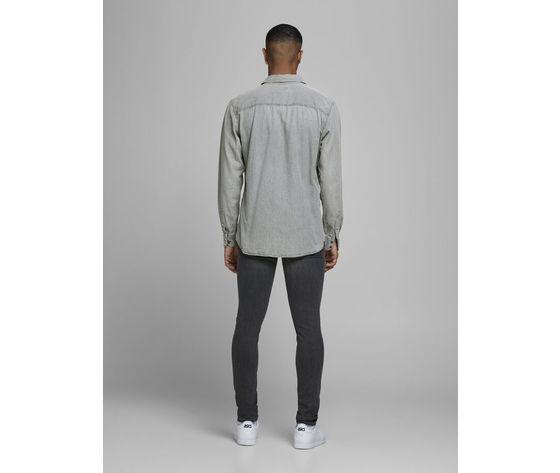 Camicia in jeans grigio chiaro uomo con tasche frontali denim grigio light grey jack   jones art. 12138115 %282%29