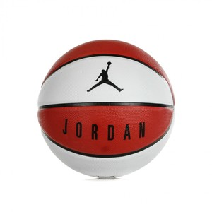 Pallone Jordan Playground 8p 07 Bianco Rosso con logo Jordan Art. J000186561107