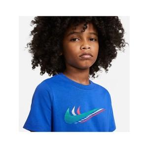 T- shirt Nike con Triple Swoosh maniche corte Blu Ragazzo Art. CU4572 480