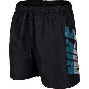 Costume Nike Nero Corto 5'' con Stampa Laterale  Uomo Bermuda Mare Swimwear art. NESSA571 006