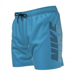 Costume Nike Azzurro Corto 5'' con Stampa Laterale  Uomo Bermuda Mare Swimwear art. NESSA571 406
