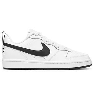Sneakers Nike Court Borough GS Low Bianco e Nero Basse Ragazzi art. BQ5448 104