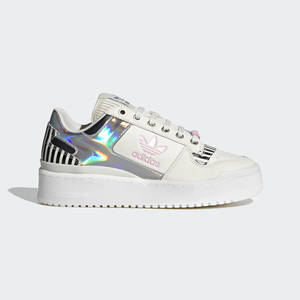 Sneakers Adidas Donna Forum Bold Bianche Rosa con  effetto Iridescente Art. FY5115
