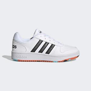Adidas Hoops 2.0 Ragazzi Bianca con striscia Nera art. H01539