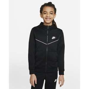 Felpa con cappuccio e zip Nike Sportswear Repeat Nera con bordini frontali Art. DD4006 010