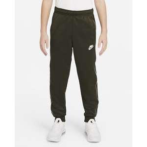 Pantalone Ragazzi Nike Sportswear Repeat Nero con bordini laterali con logo Art. DD4008 010
