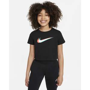 T-shirt Crop Ragazza Nike Sportswear con logo frontale multicolr art.  DM4697 010