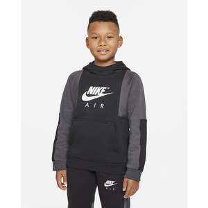 Felpa pullover Nike Air con cappuccio Ragazzo Nera Grigio  Art. DD8712 010