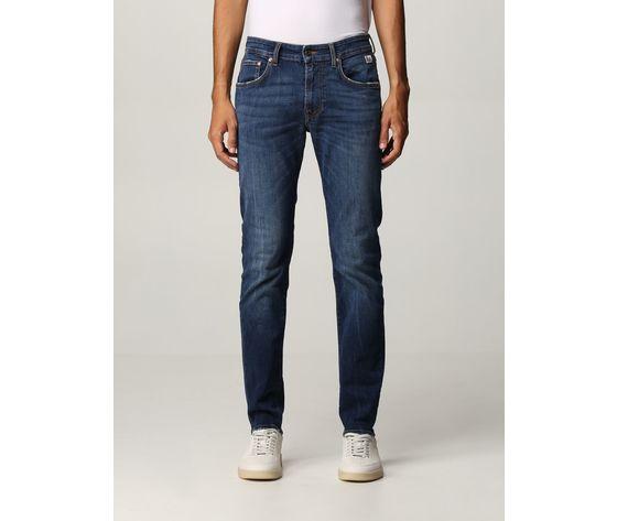 Jeans uomo skinny fit roy roger's 317 in denim strestto cuerecanti art. a21rru076d3171919